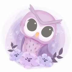 baby pretty owl with flowers, Adorable, Animal, Art PNG and Vector Cartoon Butterfly, Owl Cartoon, Cute Cartoon, Koala Nursery, Nursery Art, Newborn Nursery, Scrapbooking Image, Adobe Illustrator, Baby Shower Background