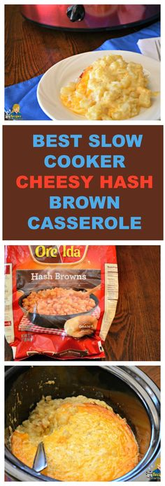 HOW TO MAKE BEST SLOW COOKER CHEESY HASH BROWN CASSEROLE