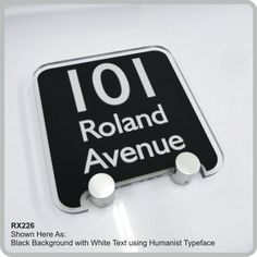RX226 House Number Address Signs and Plaques | De-signage Modern Acrylic House Address Signs