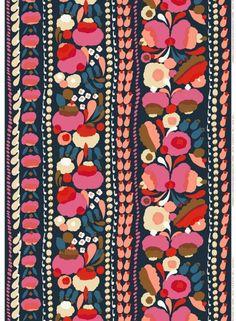 Tuppura fabric from Marimekko by Aino-Maija Metsola Motifs Textiles, Textile Patterns, Color Patterns, Print Patterns, Pattern Floral, Motif Floral, Design Blog, Print Design, Art Print