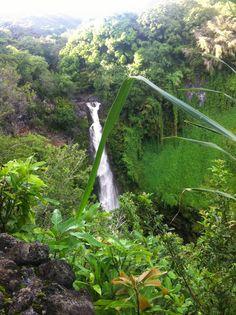 Hawaii-Urlaub individuell planen - wasserfall an der Road to Hana