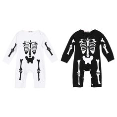 New Halloween Kids Baby Boys Girls Warm Infant Cool Human Skeleton Long Sheeve Romper Jumpsuit Cotton. Click visit to buy