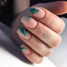 Nail art is a very popular trend these days and every woman you meet seems to have beautiful nails. It used to be that women would just go get a manicure or pedicure to get their nails trimmed and shaped with just a few coats of plain nail polish. Square Nail Designs, Elegant Nail Designs, Elegant Nails, Toe Nail Designs, Acrylic Nail Designs, Acrylic Nails, Funky Nail Designs, Coffin Nails, Spring Nails