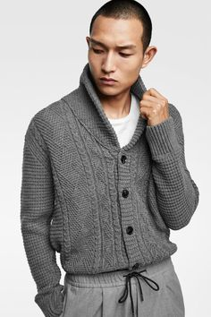 Image 2 of OPEN CARDIGAN from Zara Crop Rotation, Zara United States, Open Cardigan, Gifts For Dad, Jogging, Lana, Wool Blend, Men Sweater, Suits