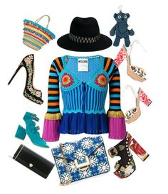 """""""Magic Blue!"""" by lalu-papa on Polyvore featuring Moschino, MayraFedane, Laurence Dacade, FAUSTO PUGLISI, Diesel, Versace, Fendi, Marchesa, Mystique and Maison Michel"""