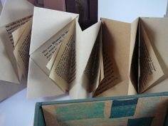 Woods in the City by Alisa Golden. Nideggen and Ingres papers, Cherry Paperwood (veneer) paper, Cave paper, Mylar, book cloth, Davey board, museum board, linen thread. 10 x 6 x 3. © 2013. edition size: 20