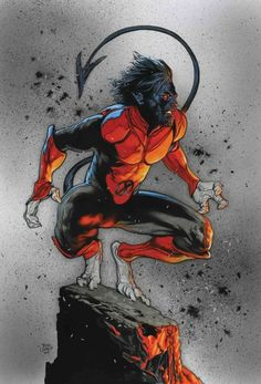 Marvel comics for March: this is the cover for X-Men Red drawn by Travis Charest. Marvel Comic Character, Comic Book Characters, Marvel Characters, Comic Books Art, Book Art, Comics Anime, Marvel Comics Art, Marvel Comic Universe, Comics Universe