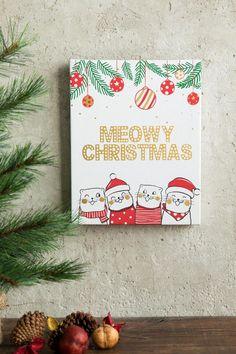 """Have a Meowy Christmas"" I love this! :) #cats #catlady #christmas #christmasdecor #homedecor #wallart #giftideas #affiliate"