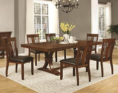 Janes Gallerie 7piece Transitional Trestle Dining Set -- Continue to the product at the image link.Note:It is affiliate link to Amazon.