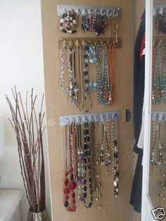 Wardrobe jewellery tidy