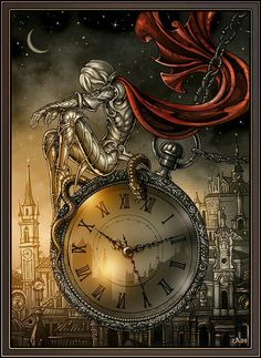 Saint Silver Germain - version by Candra on DeviantArt Art Du Temps, Steampunk Kunst, Steampunk Clock, Throne Of Glass Series, Clock Art, As Time Goes By, Time Art, Dark Art, Mystic