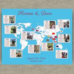 Parcourez le plan de table mariage thème mariage coin par redlinecs