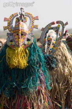 Africa   Bobo masks during festivities, Sikasso, Mali   ©Jean Pierre De Mann