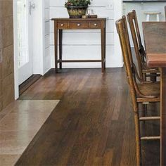 At first signs of wood floor wear, sand the surface and apply a fresh coat of polyurethane by renting a floor-polishing machine. Prefinished Hardwood, Engineered Hardwood Flooring, Hardwood Floors, Furniture Repair, Wood Furniture, Wood Floor Repair, Wood Floor Finishes, Home Fix, Home Remodeling