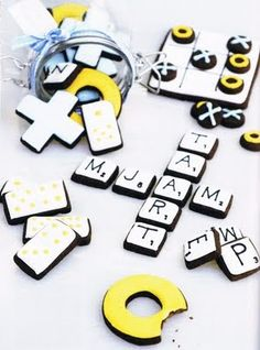 board game cookies