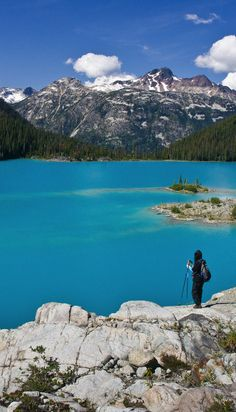 This gorgeous northern lake is so bright and so blue you have to see it to believe it.---where is this????