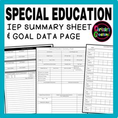 FREE Special Education IEP Summary and Data sheets are a great way to organize yourself in a simple yet efficient way.
