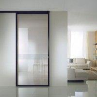 porta vetro scorrevole sabbiato bianco | Porte vetro | Pinterest ...