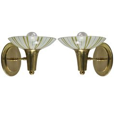 Pair Modern Striped Glass Sconce (2 Pair Available) | 1stdibs.com