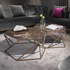 Coffee table design over is a really remarkable as well as modern designs. Hope you get the idea or ideas for your contemporary coffee table. Coffee Table Design, Hexagon Coffee Table, Diy Coffee Table, Decorating Coffee Tables, Contemporary Coffee Table, Modern Coffee Tables, Center Table, Decoration Table, Luxury Interior