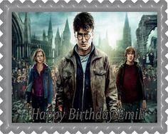 Harry Potter Edible Birthday Cake Topper