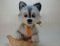 """Валяная игрушка собака по имени Вольт. Игрушка из шерсти. :: """"Игра в войлок"""""""