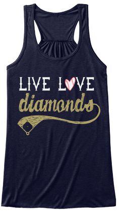 Live Love Diamonds Baseball Tank Top | Teespring