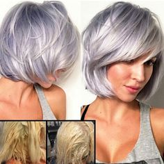 Looking for latest hair color ideas for your short hair? In this post you will find best images of 35 New Hair Color for Short Hair that you will in love! Pastel Hair, Ombre Hair, Short Hair Cuts, Short Hair Styles, Hair Color And Cut, Hair Colour, Short Hair Colors, Hair 2018, Great Hair