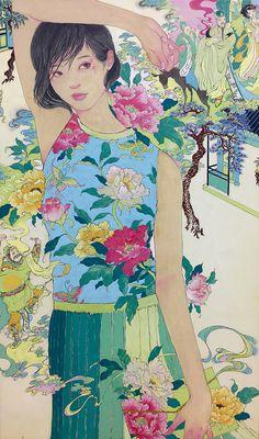 Oriental, Peony Print, Japanese Modern, Popular Art, Japanese Painting, Japan Art, Pattern Art, Illustration Art, Illustrations
