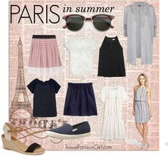 Packing for Paris For cooler days in June, you'll need a good pair of jeans in a darker shade, which you can wear tucked into your comfortable ankle booties. Summer is also the time to make use of your wedge sandals, which instantly give your wardrobe a summery touch.