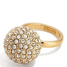 LARGE PAVE BALL RING.....I want it!
