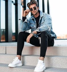 Dreamy styles & latest men's fashion ideas for it's time to going rock with the perfect fashion trends ideas for men's in every young Men Street, Street Wear, Street Fashion Men, Mode Outfits, Casual Outfits, Stylish Men, Men Casual, Sweat Gris, Latest Mens Fashion
