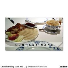 Chinese Peking Duck And Rice Business Card Peking Duck, Business Cards, Food And Drink, Rice, Chinese, Restaurant, Store, Tent, Shop Local