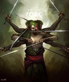 Zoro - One Piece ( glowing eye during battle. this is what I'm trying to achieve.)