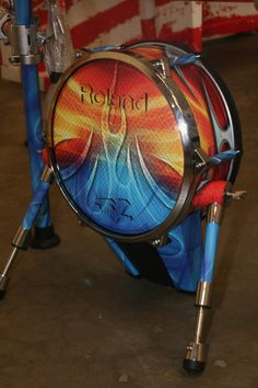 Full Color Digital Print Wrap on Roland Piano and Drum Kit by Iconography