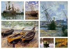 Claude Monet Collection I (Boats)