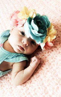 DIY Crown : DIY Baby Flower Crown Baby Flower Crown, Diy Crown, Diy Tutorial, Flowers, Crafts, Diy Baby, Joyful, Cord, Diy Ideas