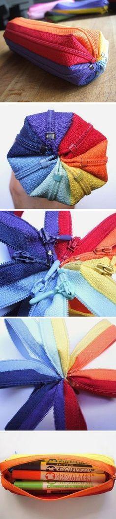 Ideias de Costura - Estojo de fechos ~ LOJA SINGER PORTO