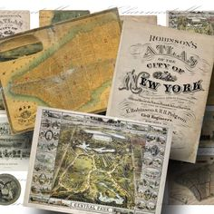 Historic New York City Collage Sheet2 by CharmedMemoryCollage