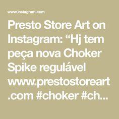 "Presto Store Art on Instagram: ""Hj tem peça nova  Choker Spike regulável  www.prestostoreart.com  #choker #chokergothic #chokerspike  #trevosa #trevas #dark #darkgirl…"" Nova, Math Equations, Store, Black, Instagram, Tent, Shop Local, Black People, Larger"