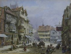 The Butter Market at Ludlow by Louise Rayner