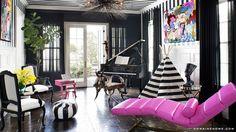 Peek Inside Kourtney Kardashian& Home - The Piano Room from Home Living, Living Spaces, Living Room, Modern Living, Living Area, Casa Kardashian, Kardashian Style, Kardashians House, Calabasas Homes
