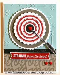 Straight From The Heart Valentine Card