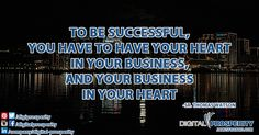 It is so important to love what you want to do with your business - passion is a fantastic motivator! #BusinessBasics #DailyInspiration #DigitalProsperity