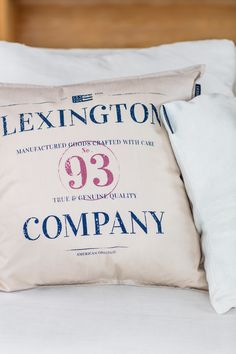 Lexington Spring 2018 Home. Colors that pop was the intention for this series with a single shade of color taking center stage. Bold print dominates the front, proudly displaying the brand's identity and year of establishment. A clean selvedge edge and a zipper closure finishes the look.