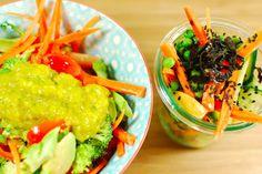 rohes Sommer-Curry und dazu einen Asia-Salat - Cookies n'Styles farbenfroher Beitrag zum Thema sommerliche Rohkost