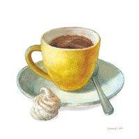 Framed Wake Me Up Coffee IV on White
