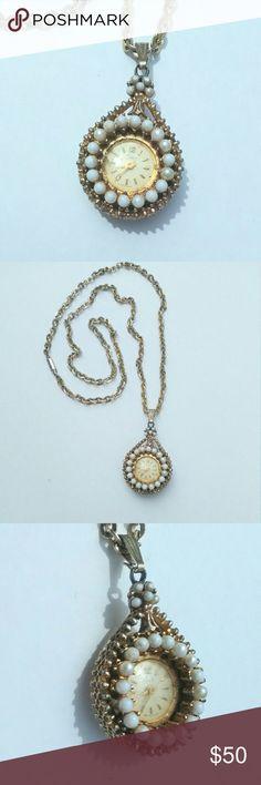 Spotted while shopping on Poshmark: Vintage Coro Movement Watch Pendant Necklace! #poshmark #fashion #shopping #style #Vintage #Jewelry
