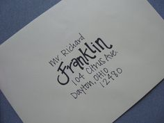 Handwritten Addressed Envelopes by QuirkyCalligraphy on Etsy, $0.75