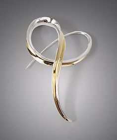 18k and sterling brooch - Nancy Linkin